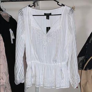 White | Black blouse